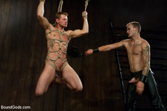 Sexy Christian Wilde Has Trent Diesel In A Cage